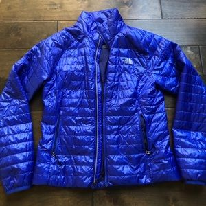 North Face Blue puffer jacket